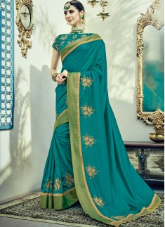 Attractive Butta Work In Saree With Heavy Work Blouse