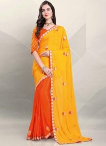 Attractive Half And Half Designer Blouse Sareee