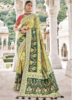 Attractive Patan Patola Pure Silk Saree With Heavy