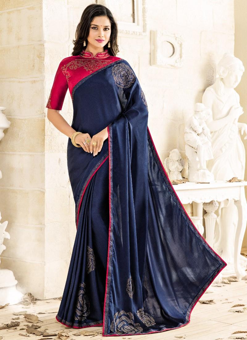 266db008cde75 Bhelpuri Dark Pink Cotton Slub Silk Woven Saree With Contrast Blouse.  Attractive Saree With Contrast Blouse