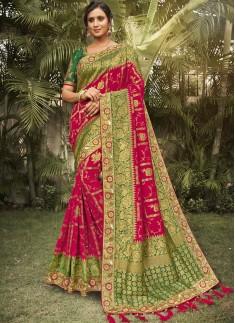 Banarasi Silk Saree With Decent Work Border And Co