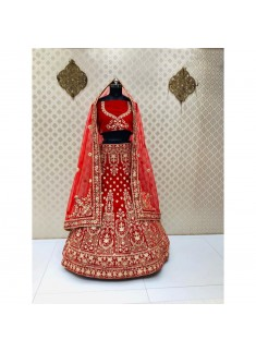 Bridal Lehenga Choli In Traditional Colour Combination