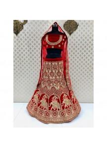 Bridal Lehenga Choli In Traditional Colour Combination