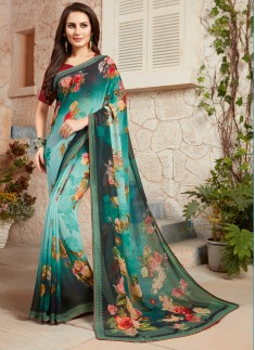 Casual Wear Classy Printed Border Saree