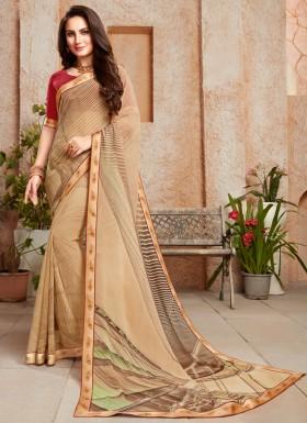 Casual Wear Classy Printed Border Saree