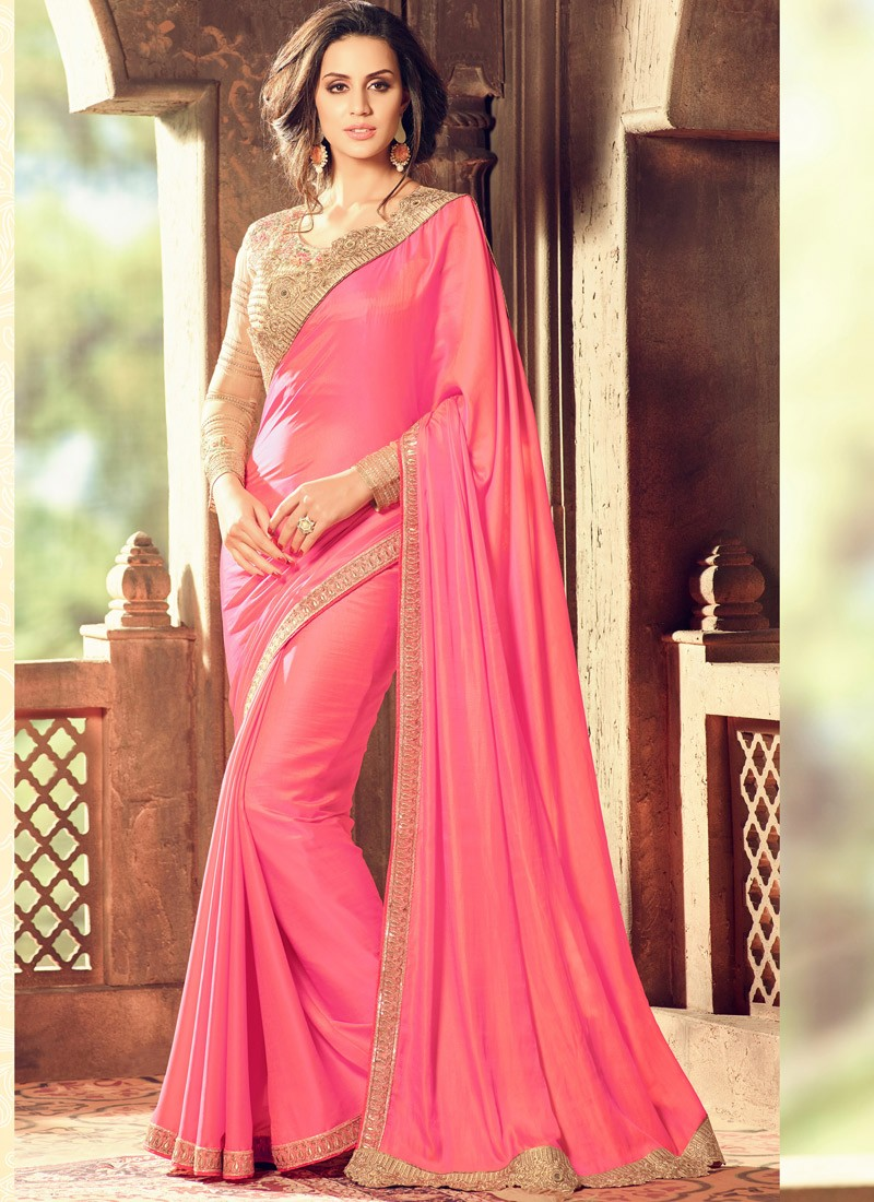 e898957a143b5 Classic Silk Saree With Contrast Heavy Blouse