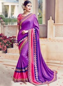 Classy Art Silk Resham Work Traditional Designer Saree
