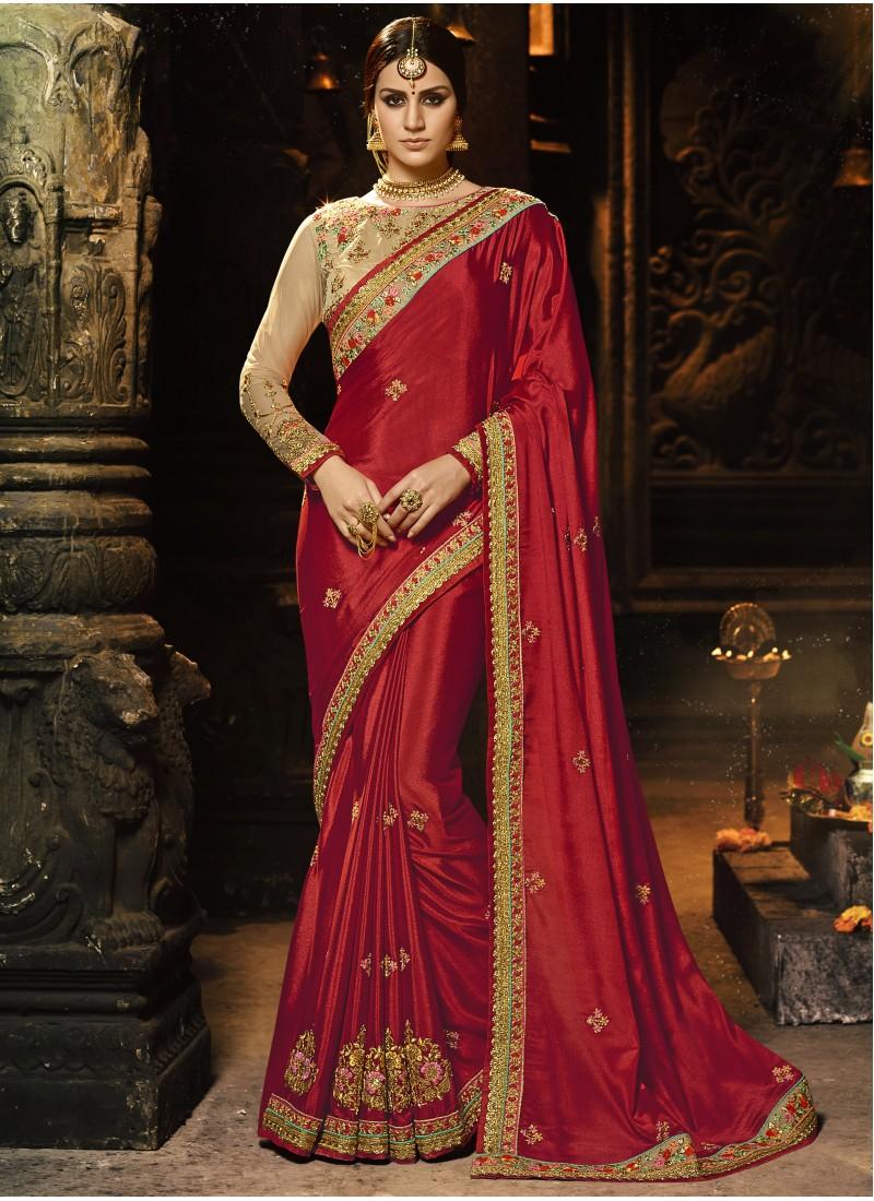 fbecc8351cc26 Dazzling Soft Cotton Silk Saree With Heavy Border Work