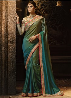 Dazzling Soft Cotton Silk Saree With Heavy Border Work