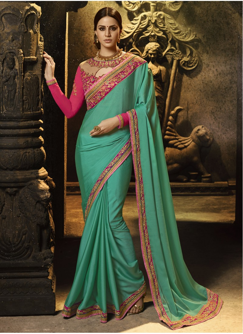 457c2994ff2f0d Dazzling Soft Cotton Silk Saree With Heavy Border Work