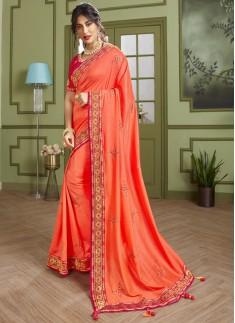 Dazzling Soft Silk Saree With Elegant banarasi Bor
