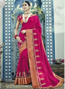 Decent Designer Work In Saree With Heavy Blouse