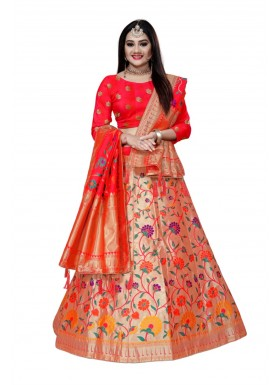 Decent Look Banarasi Silk Lehenga Choli