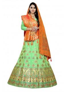 Decent Look Banarasi Silk Lehenga Choli