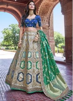 Decent Look Banarasi Silk Lehenga Choli With Jari