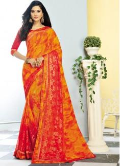 Decent Look Casual Wear Printed Saree