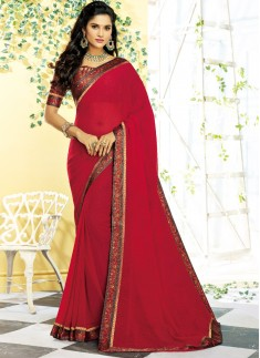 Decent Look Casual Wear Printed Saree
