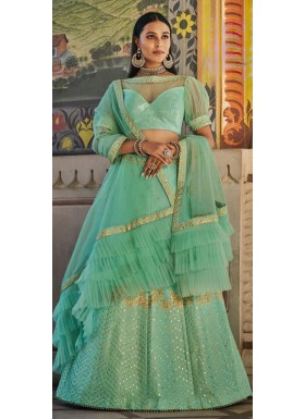 Decent Look Lehenga Choli With Unique Simple Work And Net Dupatta