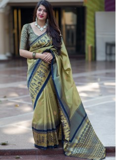 Decent Look Party Wear Banarasi Silk saree