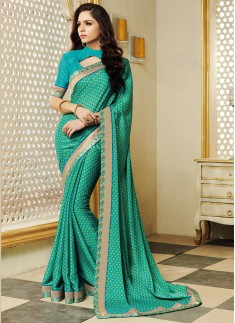Decent Look Party Wear Printed Sarees