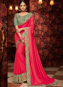 Decent Look Saree With Contrast Designer Border