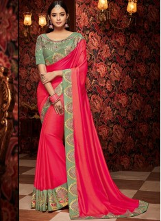 Decent Look Saree With Contrast Designer Border