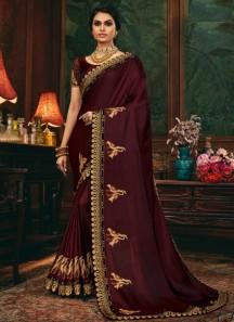 Decent Look Weaving Saree With Heavy Work Blouse Piece