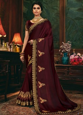 Decent Look Weaving Saree With Heavy Work Blouse Piece