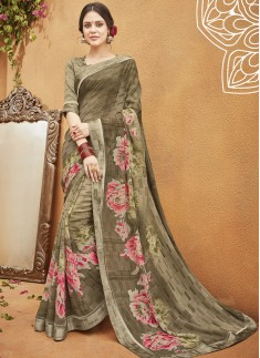 Decent Print Casual Wear Saree