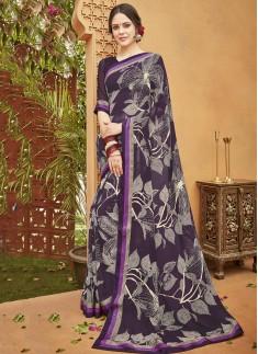 Decent Print Casual Wear Saree