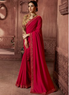 Designer Concept Soft Silk Saree With Contrast Dig