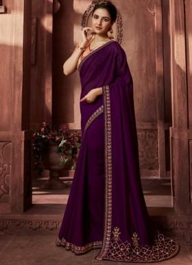 Designer Concept Soft Silk Saree With Contrast Digital Print Blouse Piece