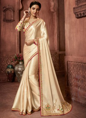 Designer Concept Soft Silk Saree With Digital Print Blouse Piece