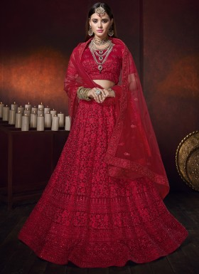 Designer Digital Net Chaniya Choli In Single Color With Heavy Work