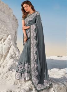 Designer Imported Fabric Pallu,Digital net Skirt With Heavy Blouse Piece