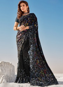 Designer Imported Print Pallu ,Digital Net Skirt And Heavy Blouse Piece