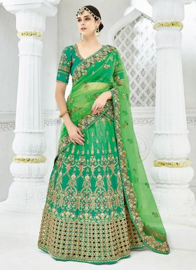 Designer Lehenga Choli With Jhari Work