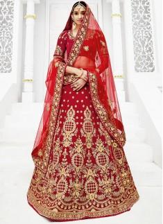 Designer Lehenga Choli With Jhari Work And Resham Work