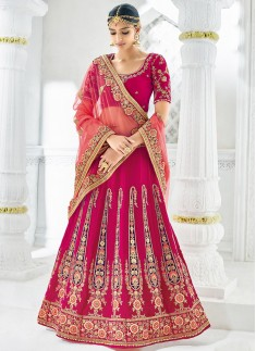 Designer Lehenga Choli With Jhari Work And Resham Work