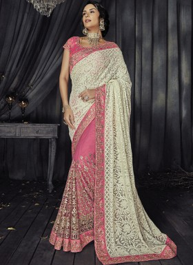 Designer Saree With Gota Patti Work