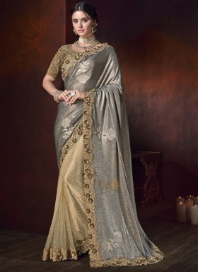 Designer Saree With Imported Fabric And Designer Blouse Piece