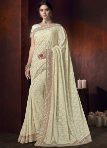 Designer Saree With Bembarg Fabric And Designer Blouse Piece