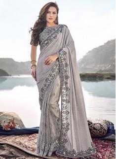 Designer Saree WIth Unique Concept And Fancy Blouse Piece