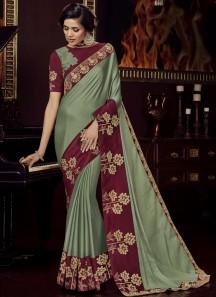 Designer Soft Silk Saree With Heavy Blouse Piece