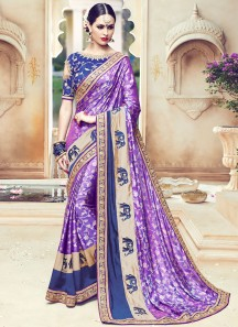 Desirable Art Silk Embroidered Work Traditional Designer Saree