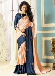 Diamond Butta Work Saree With Two Shades Of Color