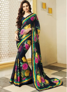 Digital print saree