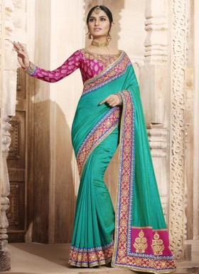 Dilettante Embroidered Work Traditional Designer Saree