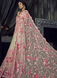 Elegant Designer Flower Work Saree