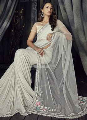 Elegant Look Pure Antic Flower Pallu Saree